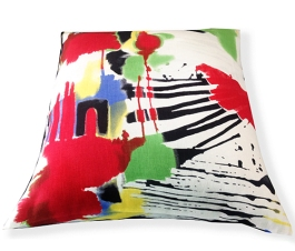 primary abstract cushion
