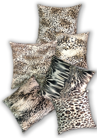 collection of animal print cushions